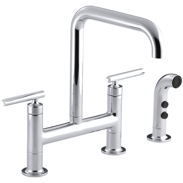 Purist Deck Mount Kitchen Sink Faucet by Kohler