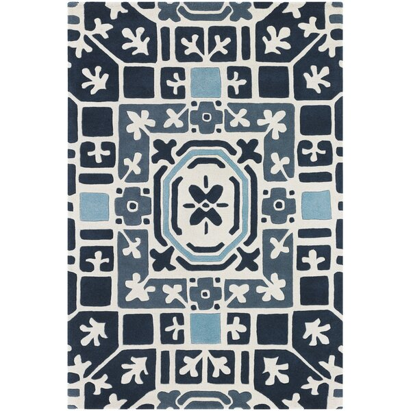 Leva Blue Rug by East Urban Home