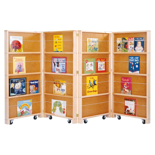 Folding 16 Compartment Book Display with Casters by Jonti-Craft