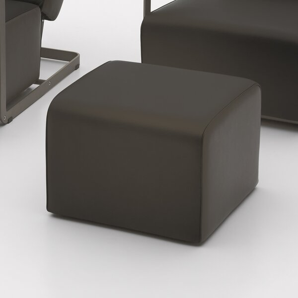 Glorenza Leather Cube Ottoman By Argo Furniture