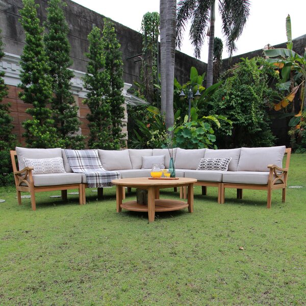 Brunswick 8 Piece Teak Sectional Set with Cushions by Birch Lane™ Heritage