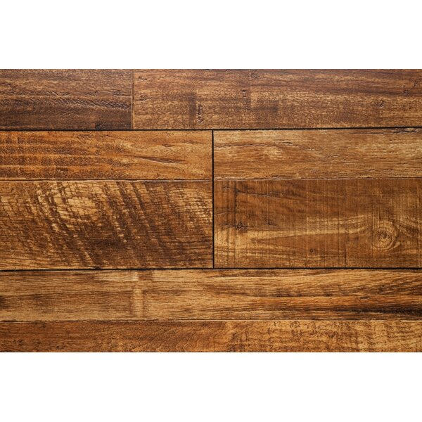 Wheat 7.5 x 48 x 12mm Oak Laminate Flooring in Brown by Chic Rugz