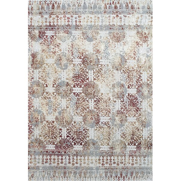 Lehigh Gray/Beige/Red Area Rug by Bloomsbury Market