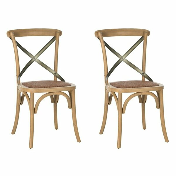 Keer Upholstered Solid Wood Side Chair In Beech (Set Of 2) By Rosalind Wheeler