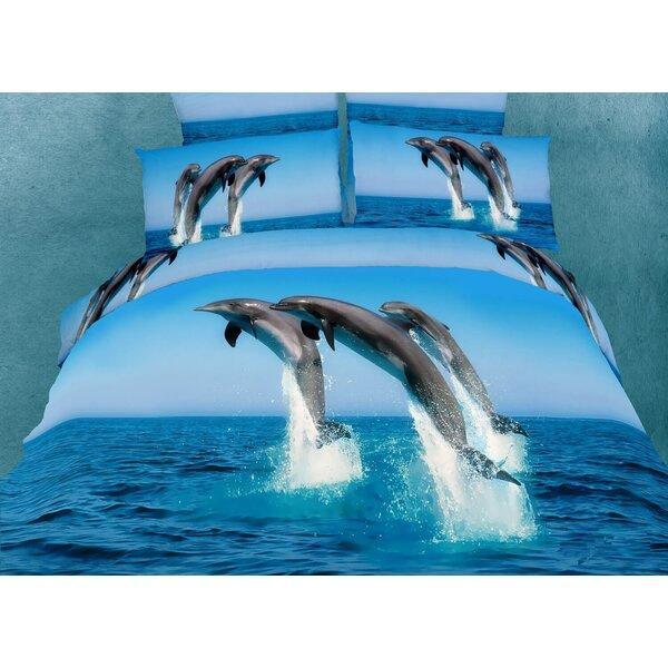 Dolce Mela Atlantic Dolphins 6 Piece King Duvet Cover Set