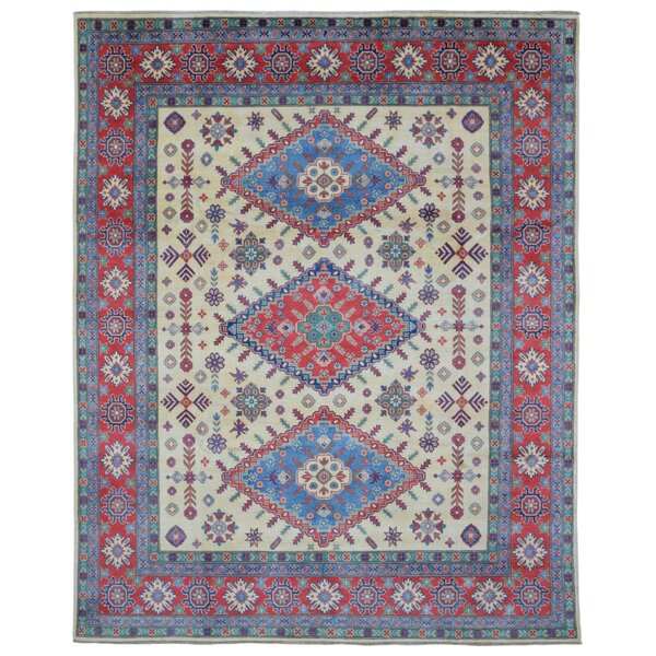 One-of-a-Kind Abbotsford Oriental Hand Woven Wool Red/Blue Area Rug by Isabelline