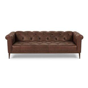 Diez Leather Chesterfield Sofa