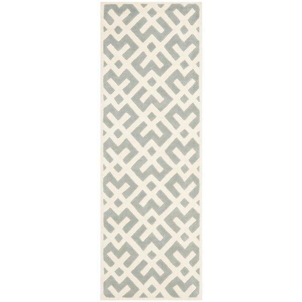 Wilkin Grey / Ivory Rug by Wrought Studio