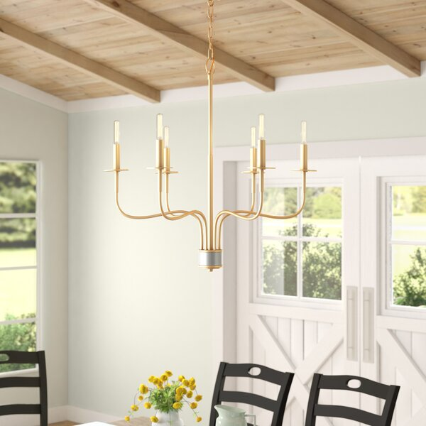 Silwell 6 - Light Candle Style Classic / Traditional Chandelier by Three Posts Three Posts