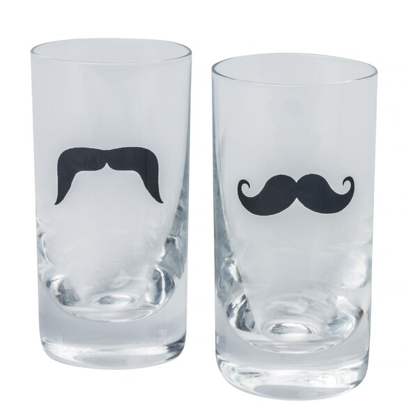 Moustache 2.35 oz. 6 Piece Shooter Glass Set by Brilliant