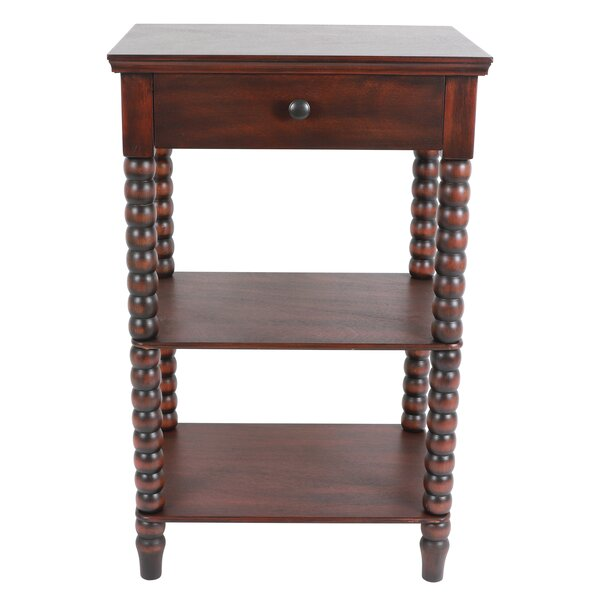 Jolie Spindle End Table with Storage by Bay Isle Home