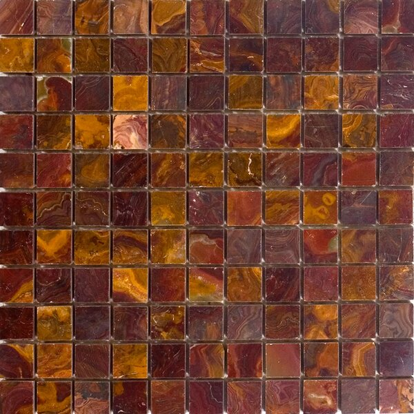1 x 1 Onyx Mosaic Tile in Red by Epoch Architectural Surfaces