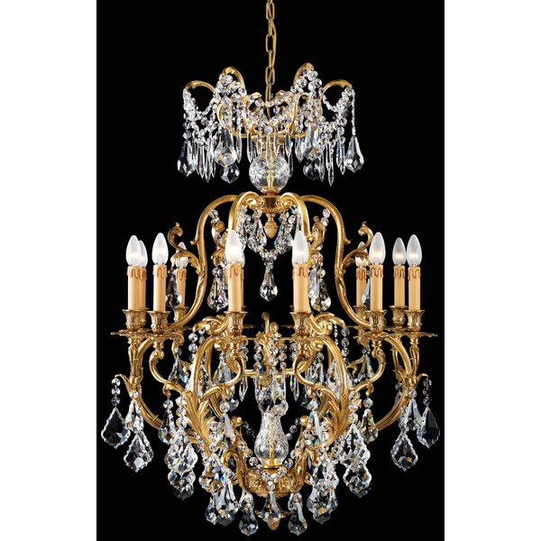 12 - Light Candle Style Empire Chandelier By Metropolitan By Minka