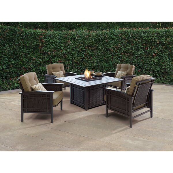 Cort Fire Pit Set Seating Group with Cushions by World Menagerie