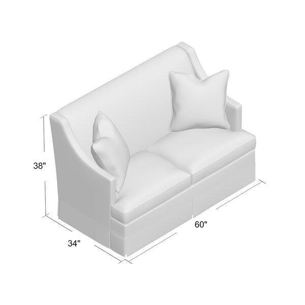 Duralee Furniture Cardiff 60 Recessed Arm Loveseat Perigold