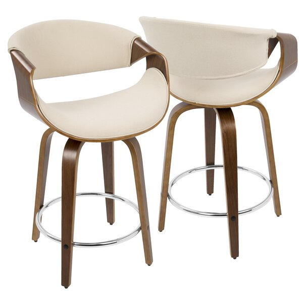 Auburn 24 Swivel Bar Stool (Set of 2) by Langley Street