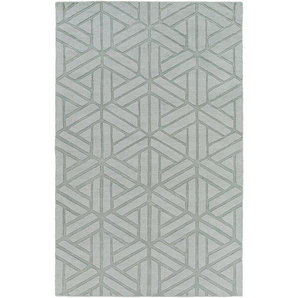 Mcnulty Hand-Loomed Gray Area Rug by Brayden Studio
