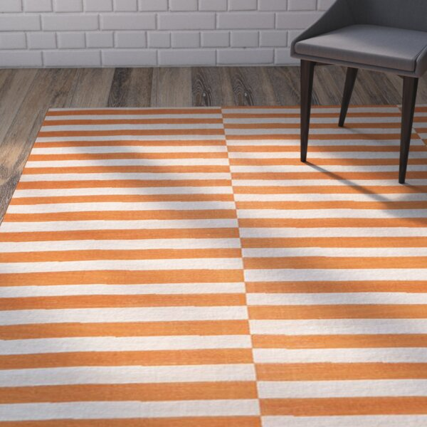 Jace Orange Area Rug by Mercury Row