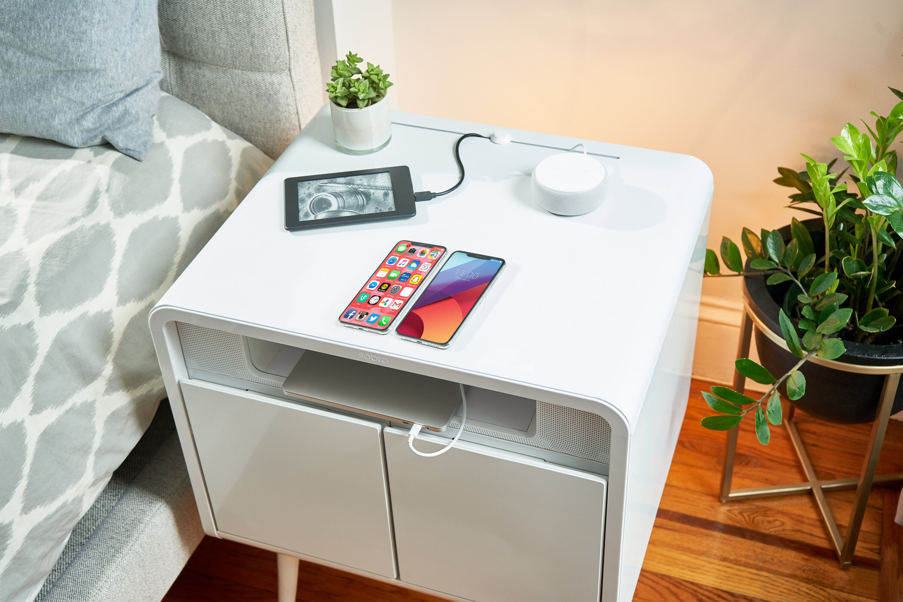End Tables Organizer Tables For Bedroom Living Room Wood White Nightstand With Legs Home Storage Unit Modern Slim End Table Bedside Cabinet Beyonds Bedside Table 2 Drawers Set Of 2 Home
