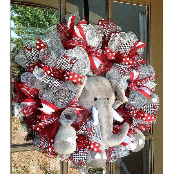 Alabama Crimson Tide Collegiate Wreath 26 Wreath by Flora Decor