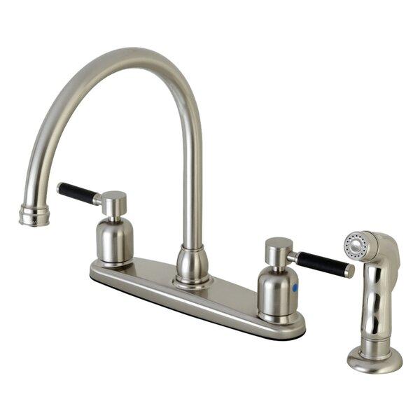 Kaiser Centerset Gooseneck Spout Double Handle Kitchen Faucet by Kingston Brass