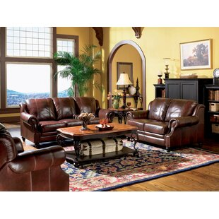 Cedarburg 3 Piece Faux Leather Living Room Set by Canora Grey