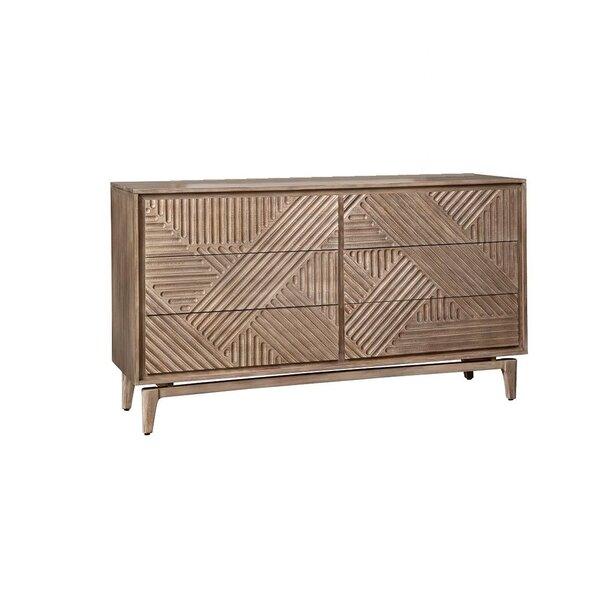 Vanowen 6 Drawer Double Dresser by Bungalow Rose Bungalow Rose