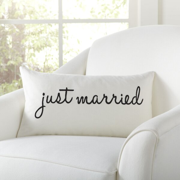 Newlyweds Pillow Cover by Birch Lane™