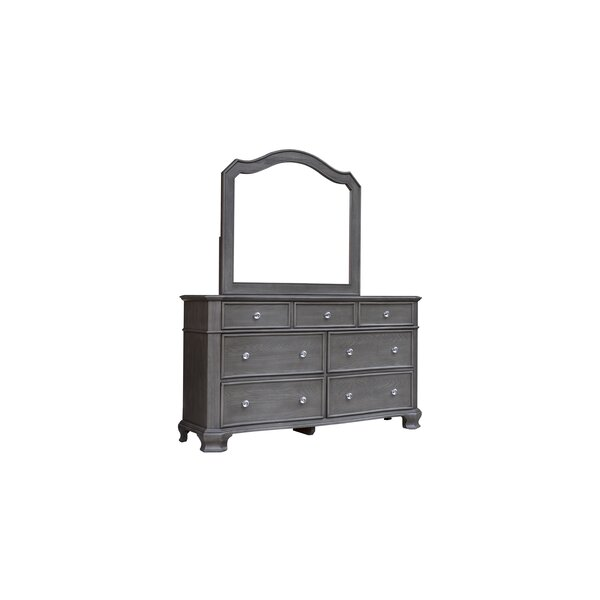 Savell 7 Drawer Double Dresser With Mirror By House Of Hampton