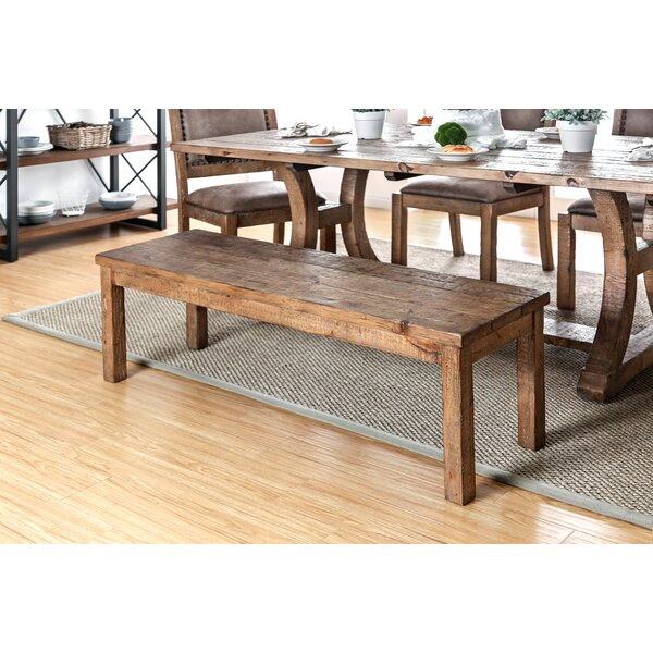 Cian Rustic Wood Bench by Union Rustic