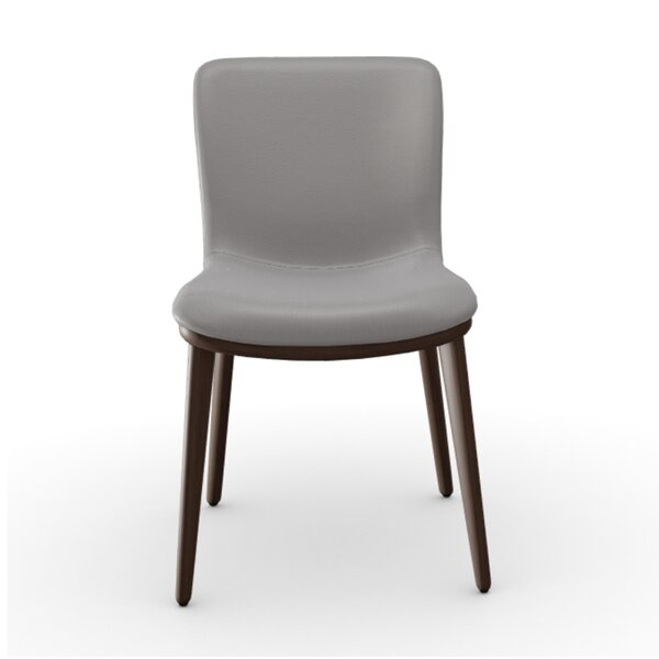 Annie Leather Upholstered Side Chair by Calligaris Calligaris