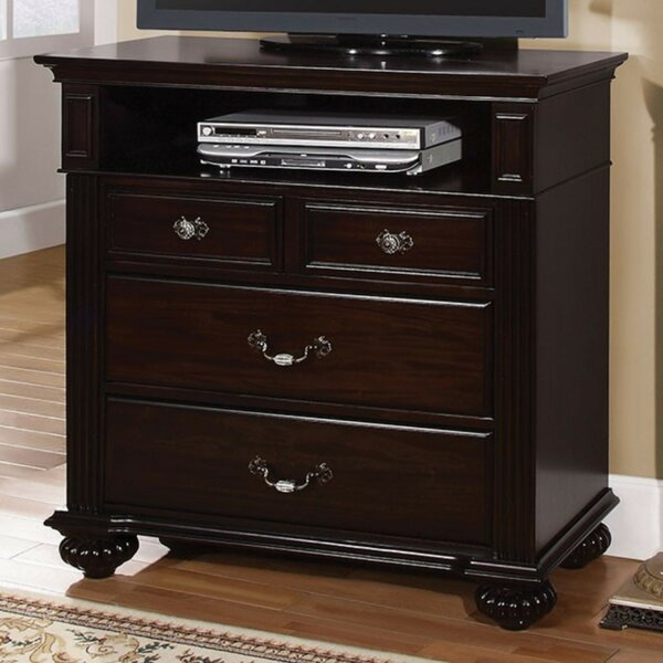 Home & Outdoor Taraval Wooden Media 4 Drawer Chest