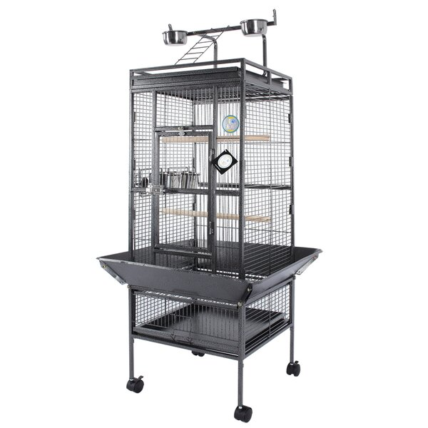 Free Standing Bird Cage with Casters by Fur Family