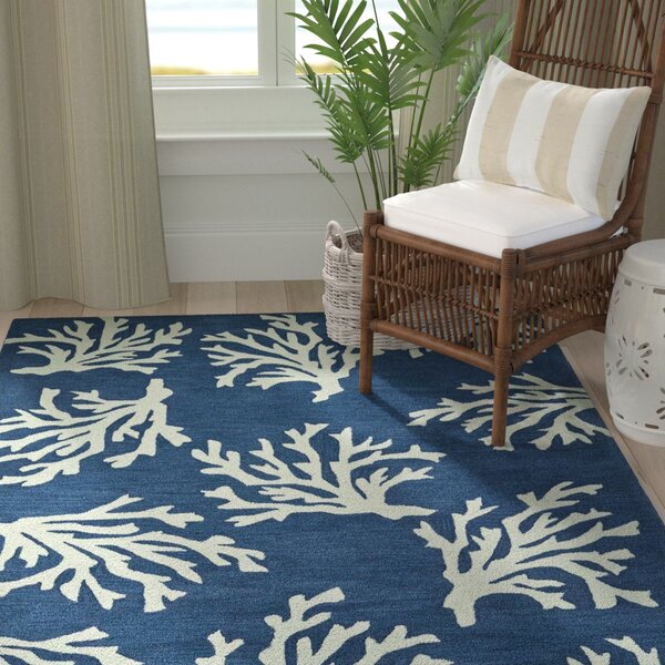 Bovina Hand-Tufted Blue/Ivory Area Rug by Highland Dunes