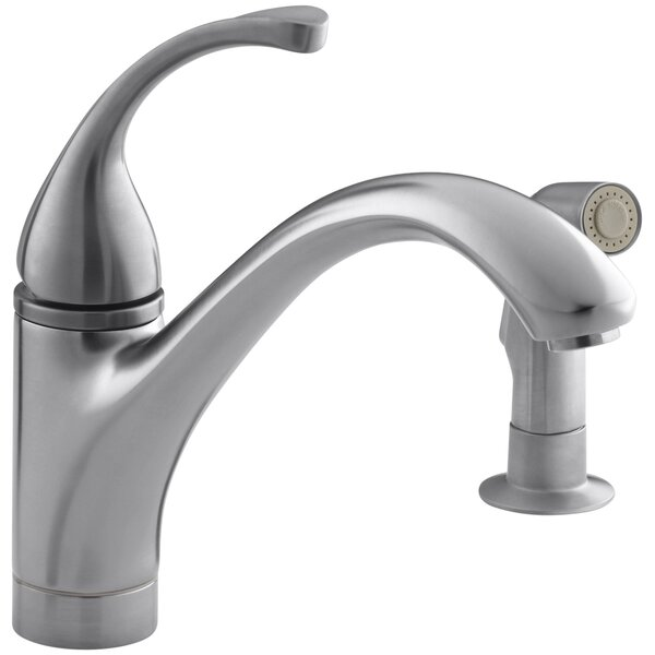Forté 2-Hole Kitchen Sink Faucet with 9-1/16 Spout, Matching Finish Sidespray by Kohler