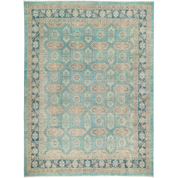 One-of-a-Kind Heimbach Hand Knotted Wool Blue Area Rug by Bloomsbury Market