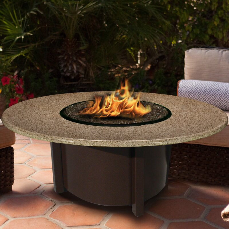 Carmel Chat Height Fire Pit Table