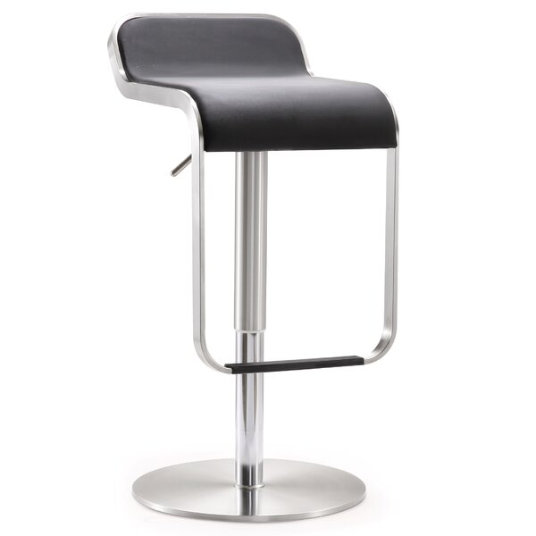Branham Adjustable Height Swivel Saddle Bar Stool by Orren Ellis
