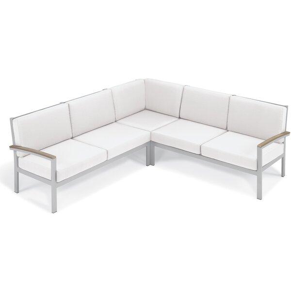 Farmington Modular Corner Patio Sectional with Cushions by Latitude Run