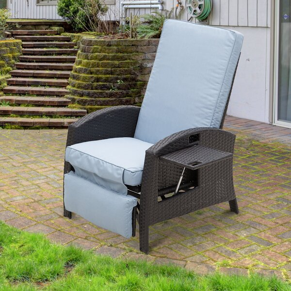 Petros Recliner Patio Chair with Cushions by Latitude Run