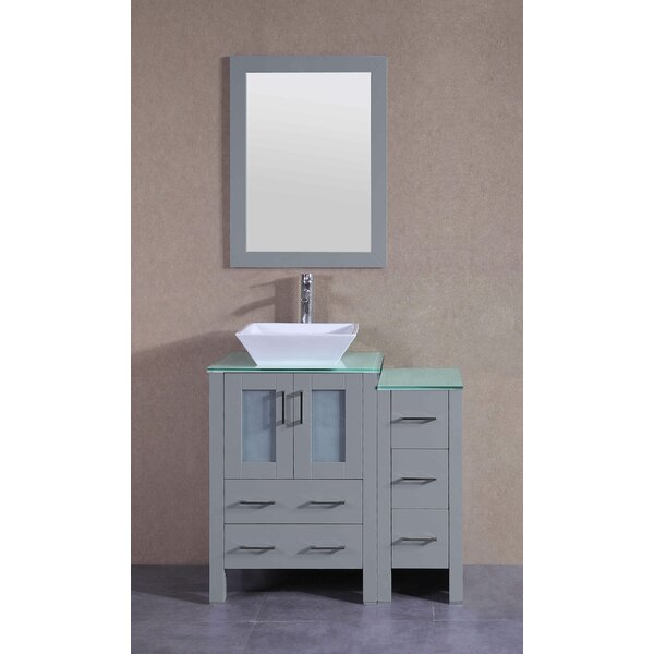 Gemini 36 Single Bathroom Vanity Set with Mirror by Bosconi