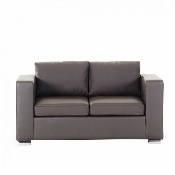 Enya Leather 2 Seater Loveseat by Orren Ellis