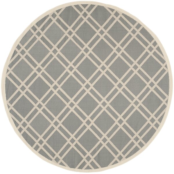 Short Gray/Ivory Indoor/Outdoor Area Rug by Winston Porter