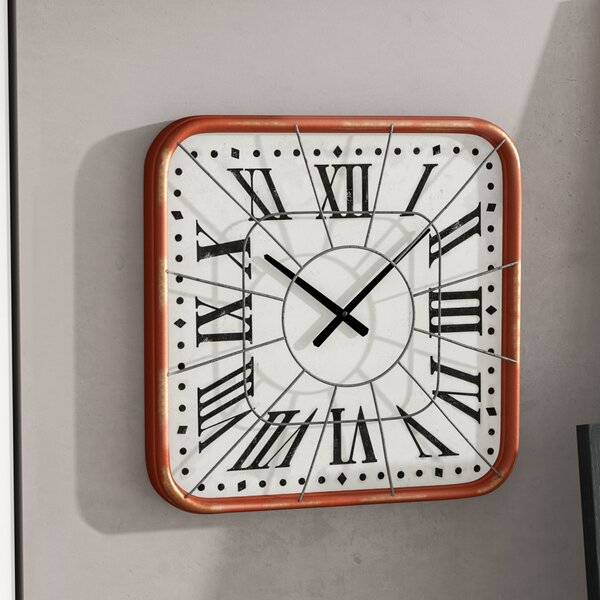 Distressed Square Cage Wall Clock by Trent Austin Design