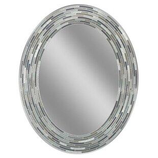 Latitude Run Pottorff Reeded Oval Tiles Accent Wall Mirror