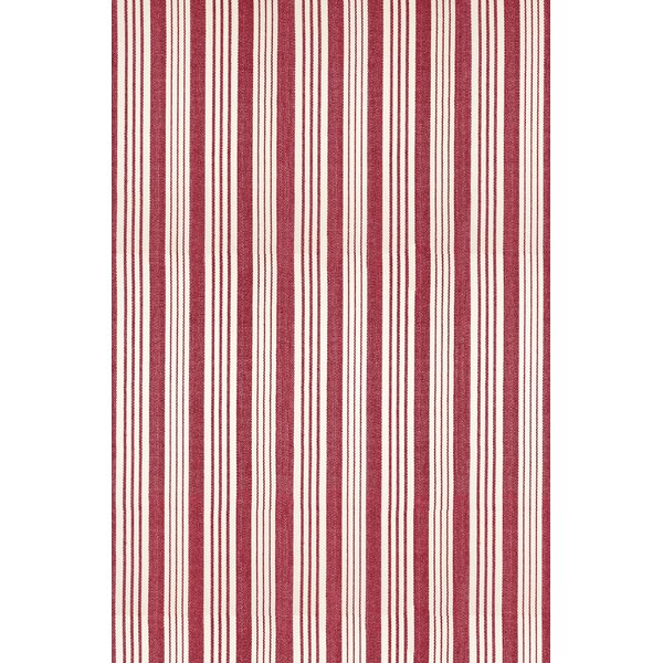 Flat Woven Red/White Area Rug by Dash and Albert Rugs