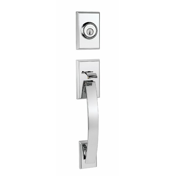 Tavaris Signature Series Double Cylinder Handleset with Trim and Smartkey®, Exterior Handle Only by Kwikset