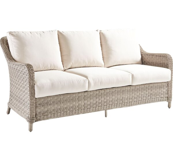 Keever Patio Sofa with Sunbrella Cushions by Darby Home Co