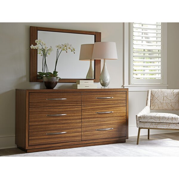 Kitano 6 Double Drawer Dresser with Mirror by Lexington