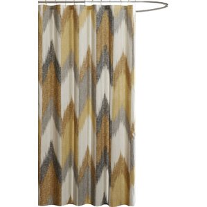 Alpine Cotton Printed Shower CurtainYellow   Gold Shower Curtains You ll Love   Wayfair. Silver And Gold Shower Curtain. Home Design Ideas